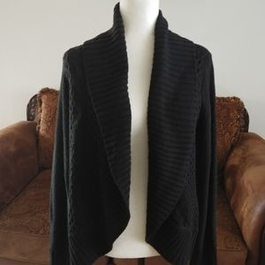 NWOT, black shawl collar cardigan